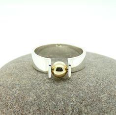 'Orbit' Spinning Kinetic Ring in Sterling Silve... - Folksy