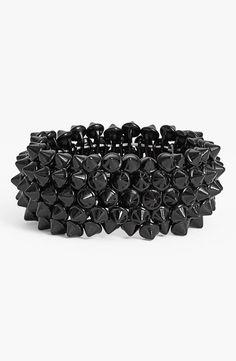Black Spike Stretch Bracelet