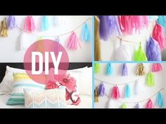 DIY room décor: garland poms