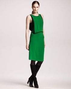 Compact Silk Draped Dress by Reed Krakoff at Neiman Marcus.