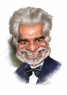 caricatur collect, famous caricatur, omar sharif, funni, sharif caricatur