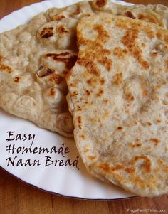 Recipe for Easy Homemade Naan Flatbread (using 5 Minute Bread Dough)