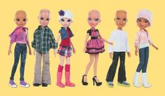 Being a skinhead, I think bald dolls are hip!