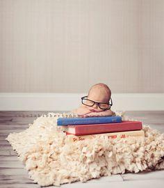 Littlest book worm.