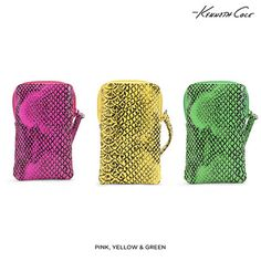 Kenneth Cole Reaction Snakeskin-Embossed Phone Case Wristlet - Assorted Colors | nomorerack.com