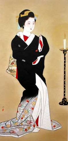 KOBAYAKAWA Kiyoshi (1899~1948), Japan: with permanent damage on his right hand from polio, he paints only with his left hand.
