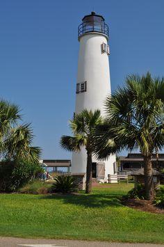 Saint George Island lighthouse, Florida. Photo taken by P. Zachary.