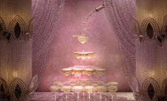 | Plan Your 'Great Gatsby' Soirée With These Fab 1920s Inspired Party Ideas champagne, towers, parties, window displays, fountain, gatsbi, beaded curtains, the great, display windows