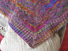 Free Pattern: Waves of Leaves Shawl by Ijeoma Oluo