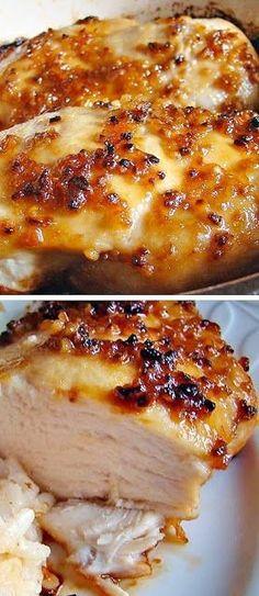 Baked Garlic Brown Sugar Chicken dinner, cook, brown sugar chicken, food, bake garlic, garlic brown, eat, yummi, recip
