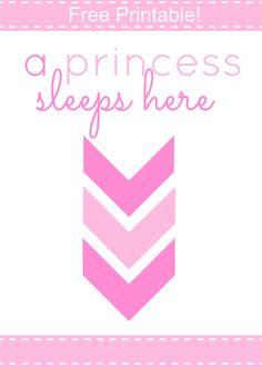 Free Princess printable for kids