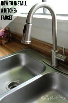 how to install a kitchen faucet - you'll be surprised how easy it is!