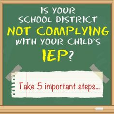 If  you've had problems with IEP compliance for your child with #Autism , click on this graphic to get tips from lawyer, Marion Walsh.