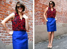 Bright colors + nude pumps: True Colors via whatiwore.tumblr.com by What I Wore, via Flickr