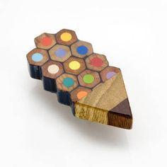 Colour Spectrum Pencil Badge