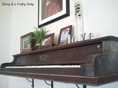 how to make a Piano Key Wall Shelf