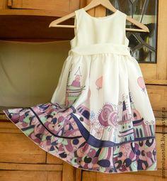 Вышивка лентами детское платье