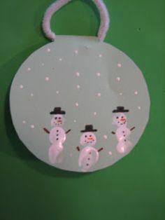 christmas fingerprint art