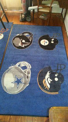 Custom NFL Helmet Logo Rug