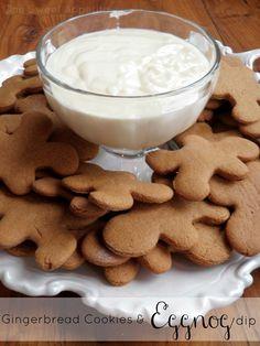 egg nog dip!  with gingercookies