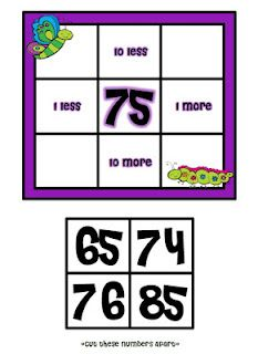 Positively Learning: TPT Treasures Part 3: More & Less - This is wonderful for helping kids worth with the hundred chart!