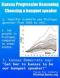 Kansas Democrats choose a banquet speaker.