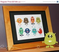 EASTER SALE Little Monster Printable Art 8 x by TracyAnnDigitalArt, $5.96