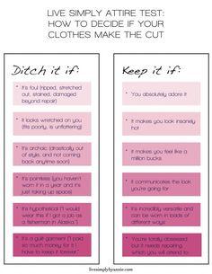 Closet Clean-Out Decision Chart