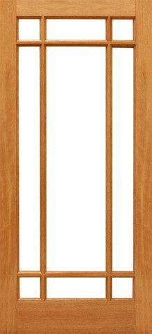 $248 9-Marginal Interior Brazilian Mahogany IG Glass Single Doo