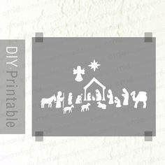 8 x 10 Nativity  Printable  Modern by moderninspireddesign on Etsy, $7.00