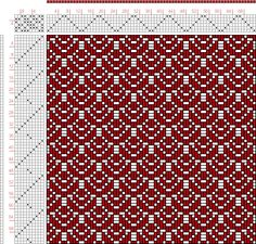 Woven drawing could also be a jacquard knit. 6-shaft, 10-treadle