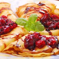 chocolate cherry cordial pancakes!
