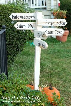 Halloween sign - change the places to witchy destinations (broom repair, candle shoppe, etc)