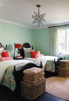 ... pour déco chambre ado fille - colorée-décoration-chambre-ado-fille