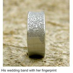 Finger print Ring
