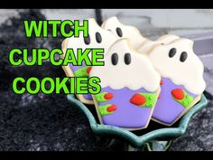 WITCH CUPCAKE COOKIES FOR HALLOWEEN, HANIELA'S