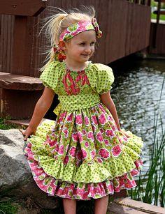 Elena's Twirly Peasant Dress - pattern