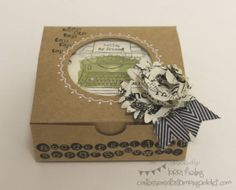 CONVENTION BOUND! :: Confessions of a Stamping Addict Tap Tap Tap! Stampin Up Gift Box Lorri Heiling
