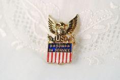 Coro Son in Service Brooch Pin by AMagnificentMess on Etsy, $10.00 brooch pin, servic brooch, brooches, etsi, sons, coro son, 1000