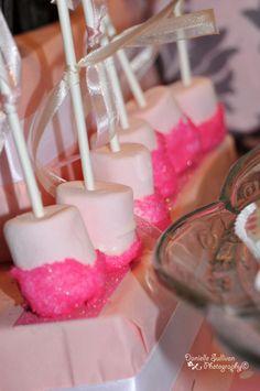 pink marshmallow pops