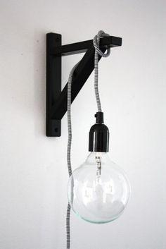 Wall (shelf) bracket, hanging pendant lamp.