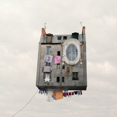 LOVE these Flying houses by Laurent Chehere