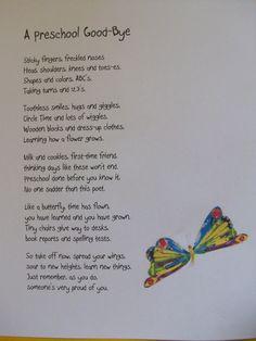 Preschool Poem--End of year So sweet!!!