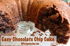 Easy Chocolate Chocolate Chip Cake recipe at Hodgepodge
