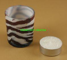 Zebra print candle holders