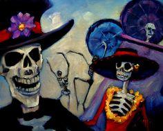 Freelance Artist Sherri Lemire - Detroit #muertos #dead #skeleton #art #calacas