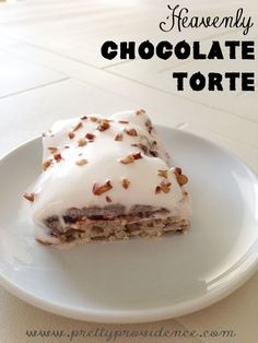 Amazingly yummy chocolate torte recipe! At my house, this gets requested instead of birthday cake! Sooo so yummy!