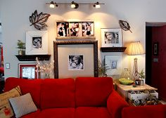 family pictures, mirrors, living rooms, frames, famili pictur, families, photography, medium, photographi