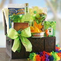 Tropical Treasures  Beach Gift Basket