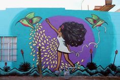 A mural painted by Amanda Adkins with the help of various other artists on the side of Westwind Studios, located on 16th St in Downtown Phoenix.